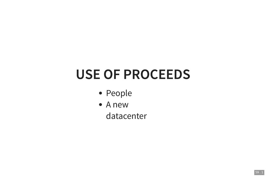 USE OF PROCEEDS USE OF PROCEEDS People A new da...