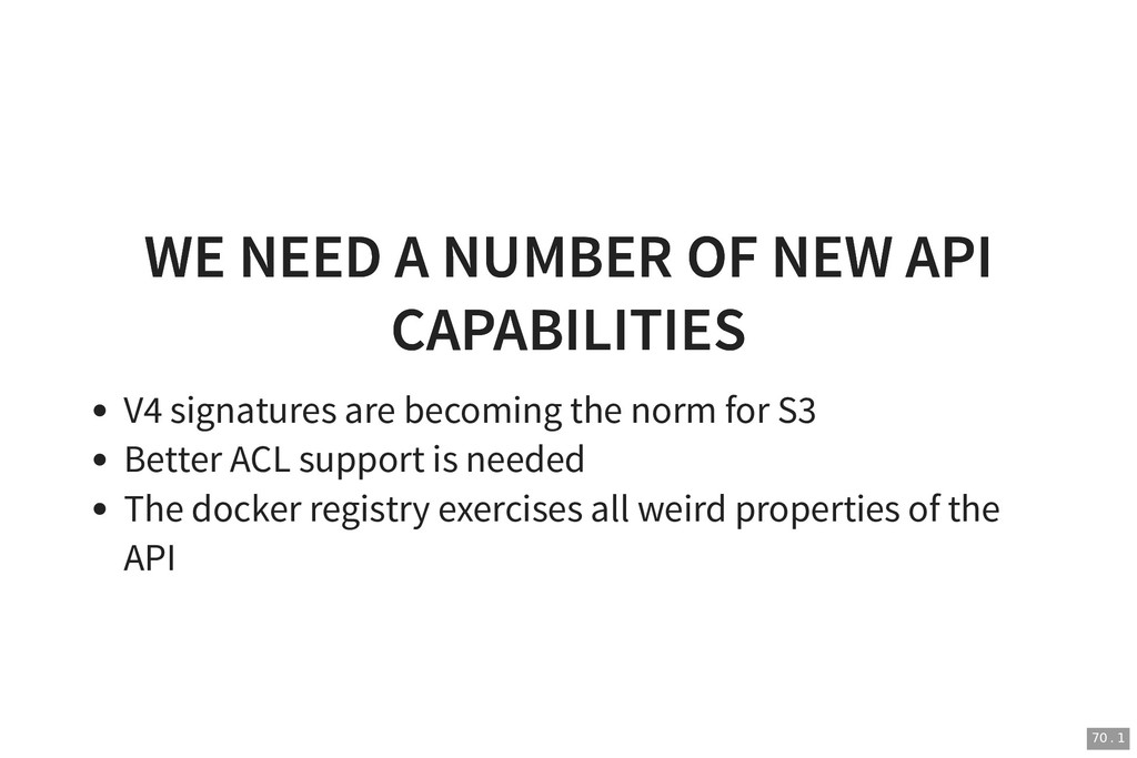 WE NEED A NUMBER OF NEW API WE NEED A NUMBER OF...
