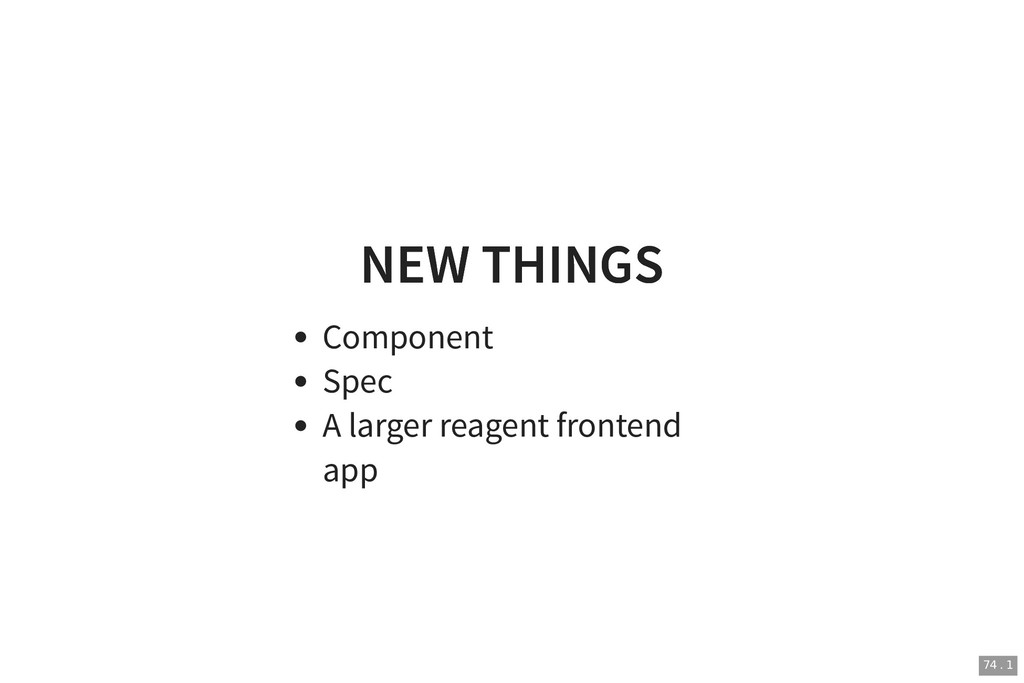 NEW THINGS NEW THINGS Component Spec A larger r...