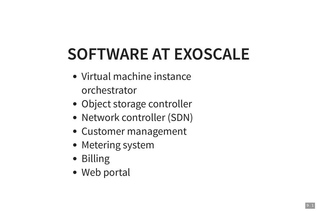 SOFTWARE AT EXOSCALE SOFTWARE AT EXOSCALE Virtu...