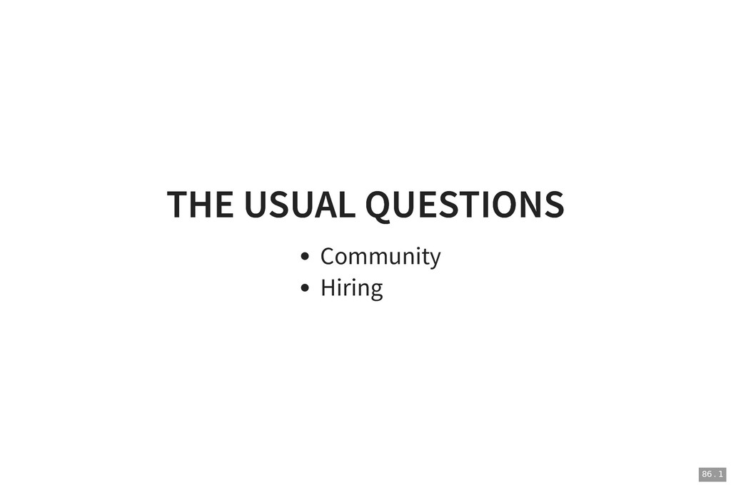 THE USUAL QUESTIONS THE USUAL QUESTIONS Communi...