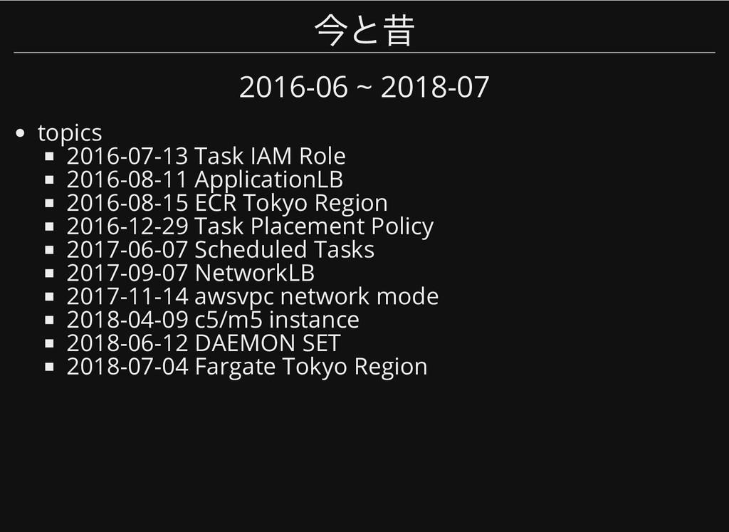 今と昔 今と昔 2016-06 ~ 2018-07 topics 2016-07-13 Tas...