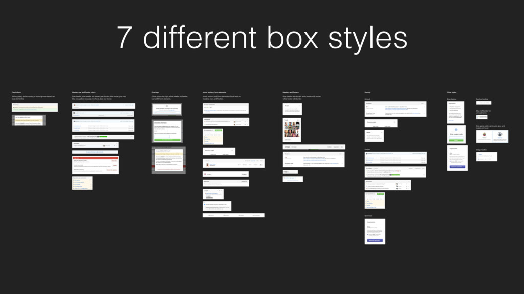 7 different box styles