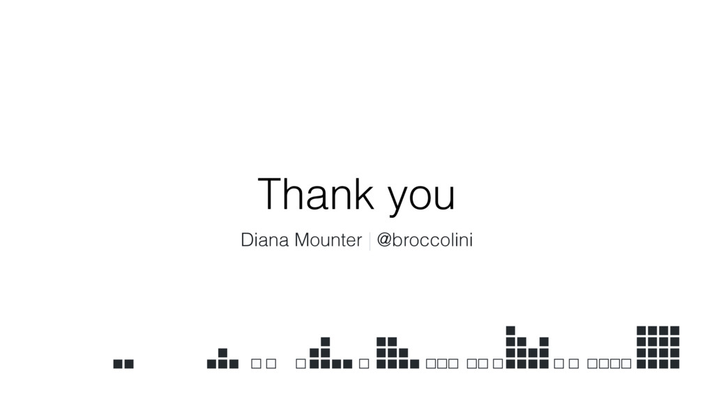 Thank you Diana Mounter | @broccolini