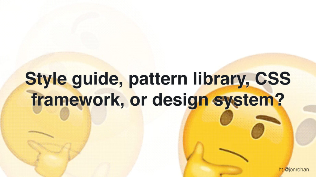 Style guide, pattern library, CSS framework, or...