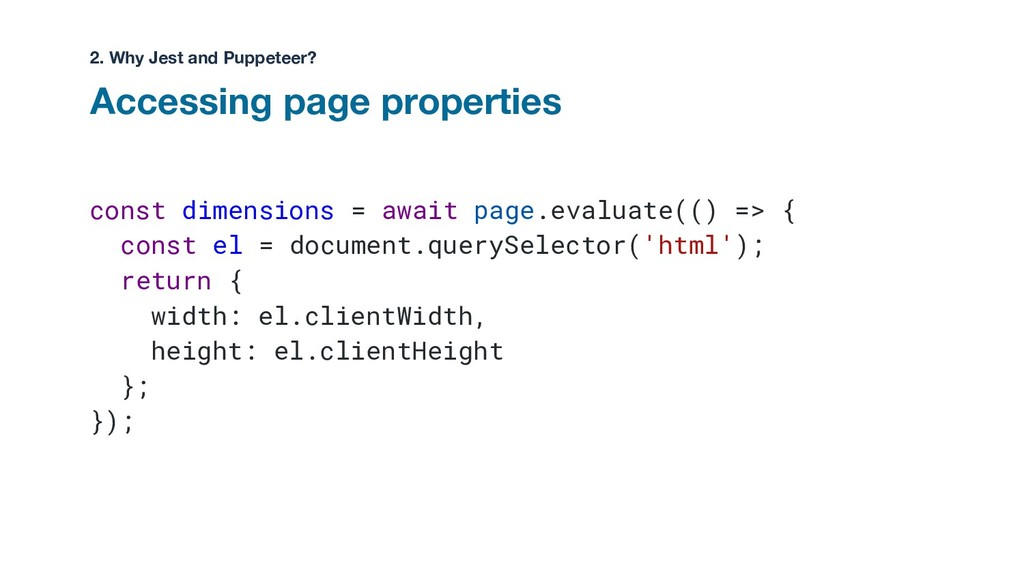 const dimensions = await page.evaluate(() => { ...