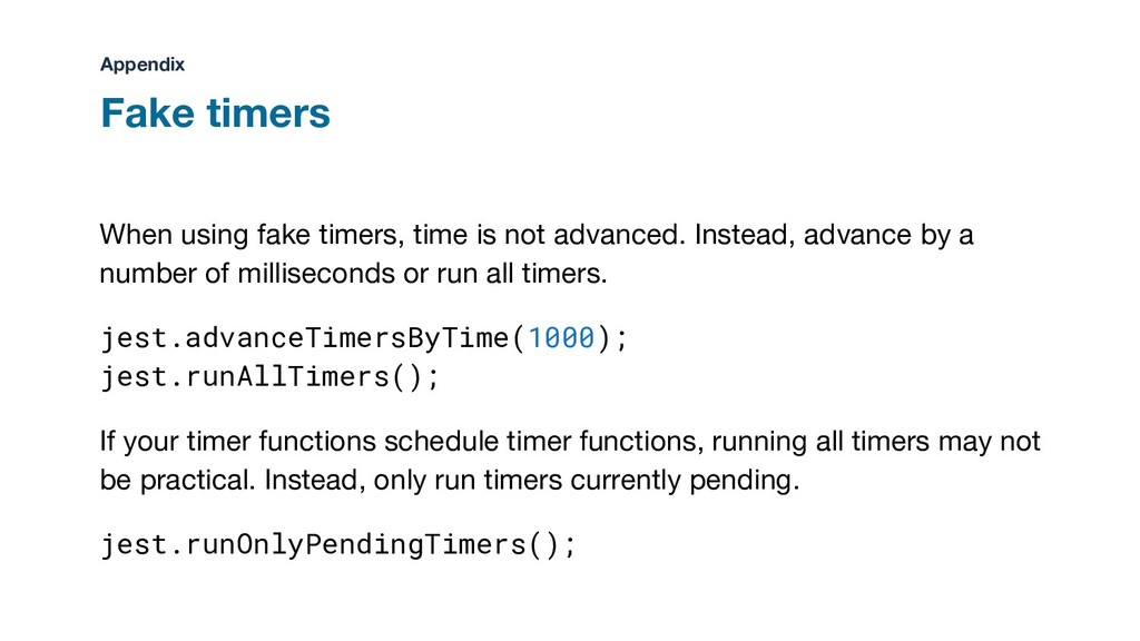 When using fake timers, time is not advanced. I...