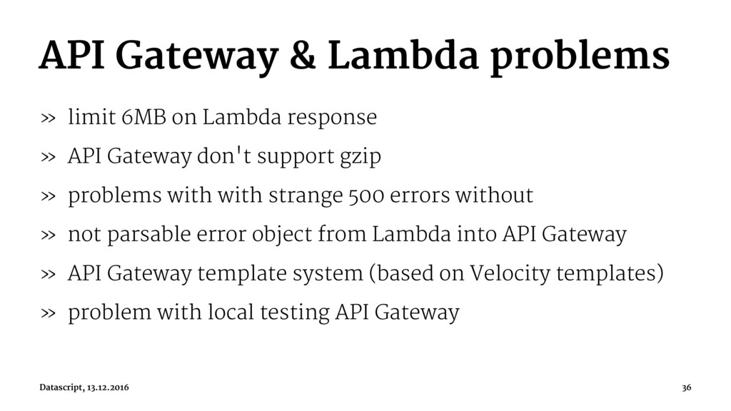 API Gateway & Lambda problems » limit 6MB on La...