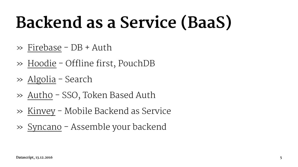 Backend as a Service (BaaS) » Firebase - DB + A...