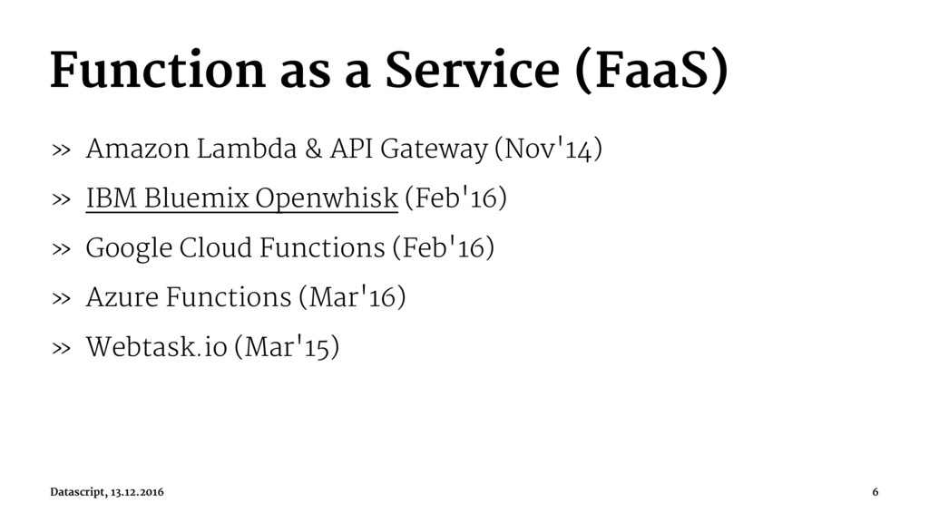 Function as a Service (FaaS) » Amazon Lambda & ...