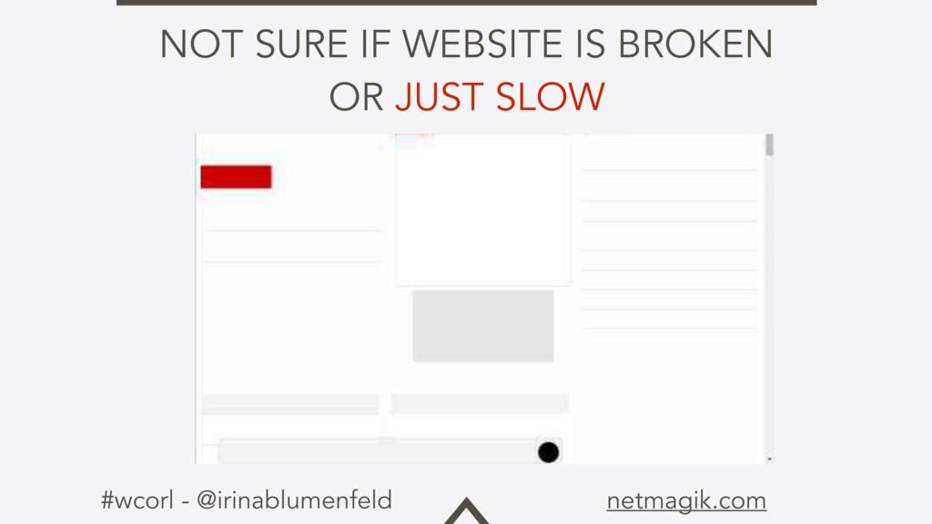#wcorl - @irinablumenfeld netmagik.com NOT SURE...