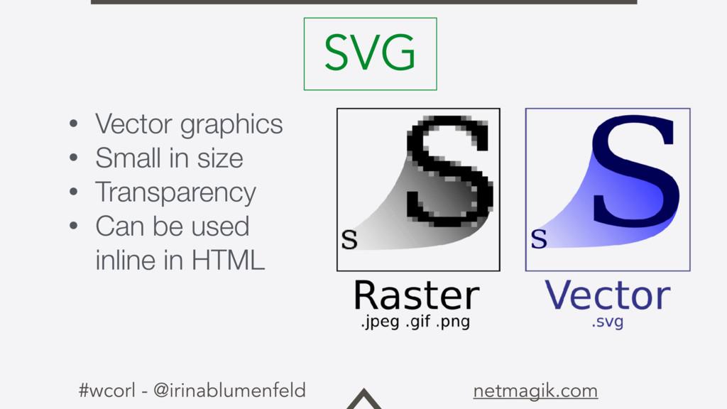 #wcorl - @irinablumenfeld netmagik.com • Vector...