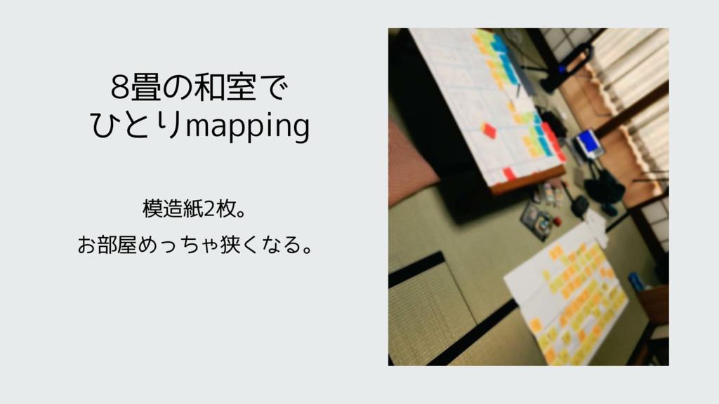 8畳の和室で ひとりmapping 模造紙2枚。 お部屋めっちゃ狭くなる。