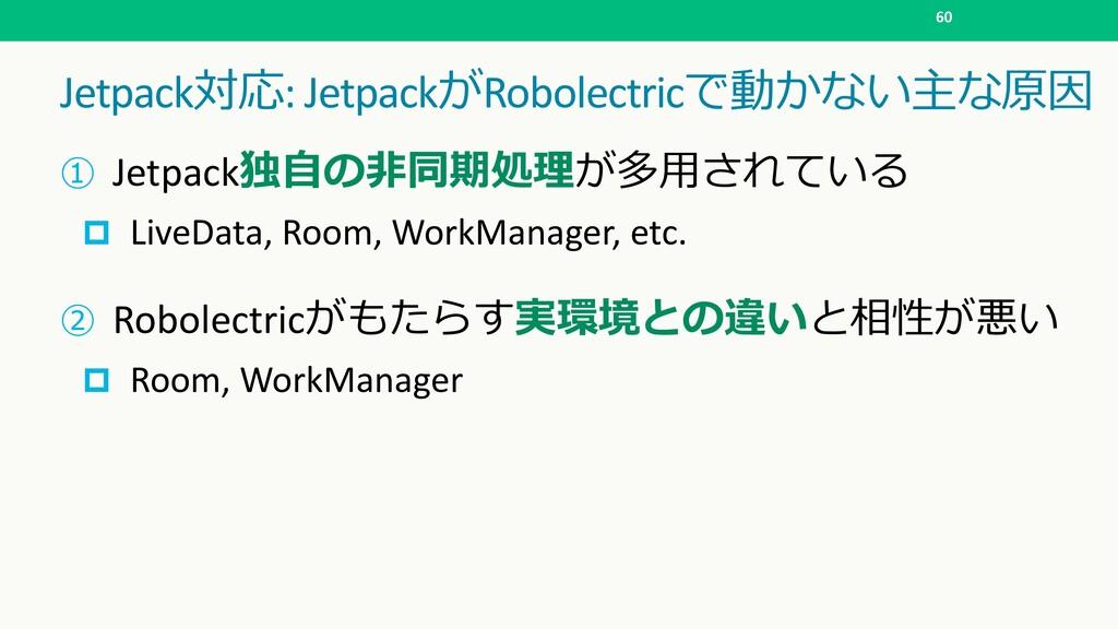 Jetpack: JetpackRobolectric   60  Je...