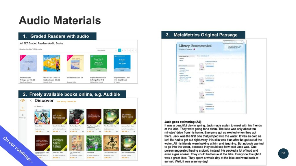 68 Audio Materials 1. Graded Readers with audio...