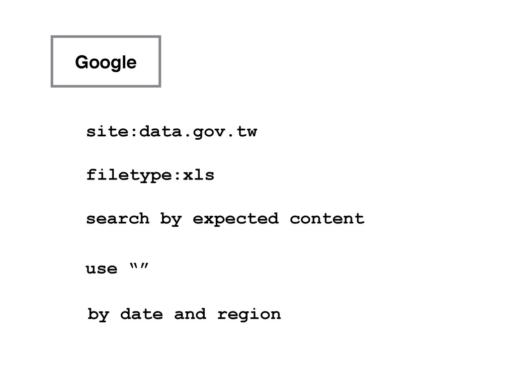 Google site:data.gov.tw filetype:xls search by ...