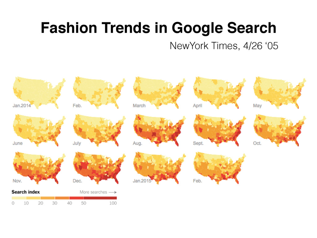 Fashion Trends in Google Search NewYork Times, ...