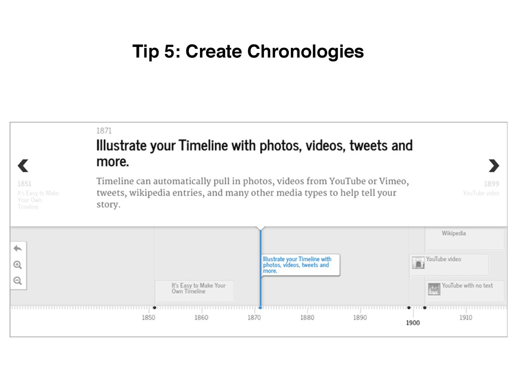 Tip 5: Create Chronologies