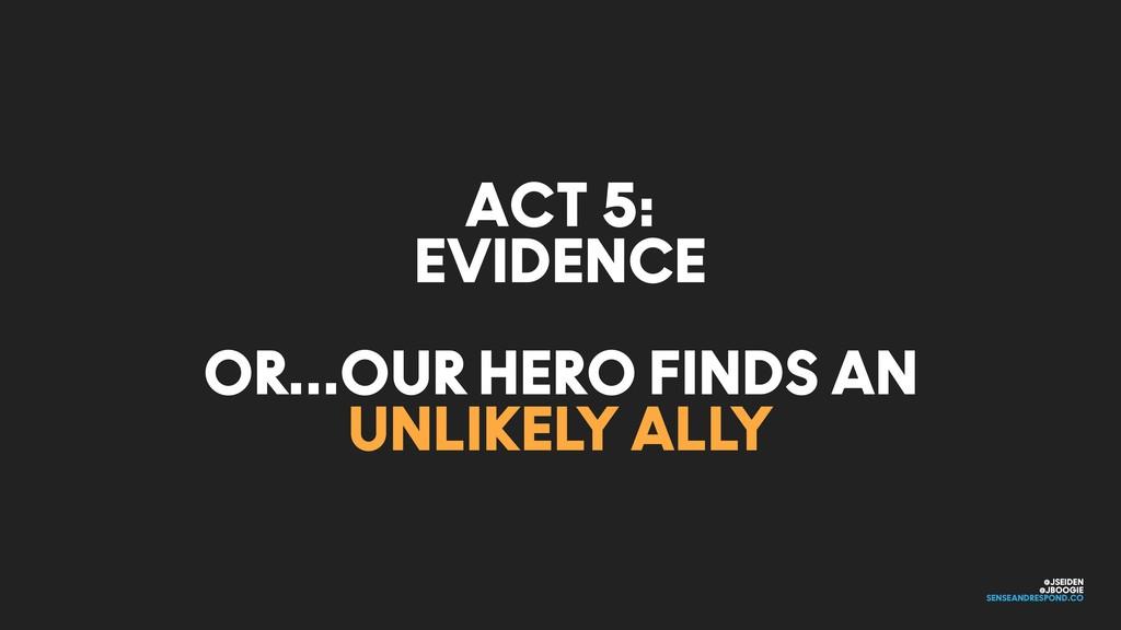 @JSEIDEN @JBOOGIE SENSEANDRESPOND.CO ACT 5: EVI...