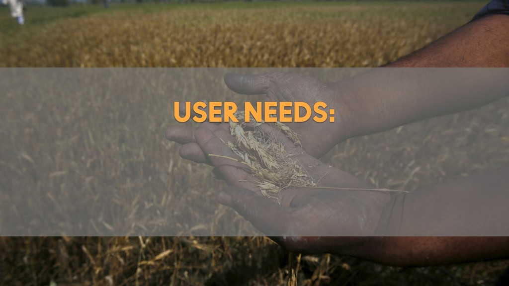@JSEIDEN @JBOOGIE SENSEANDRESPOND.CO USER NEEDS: