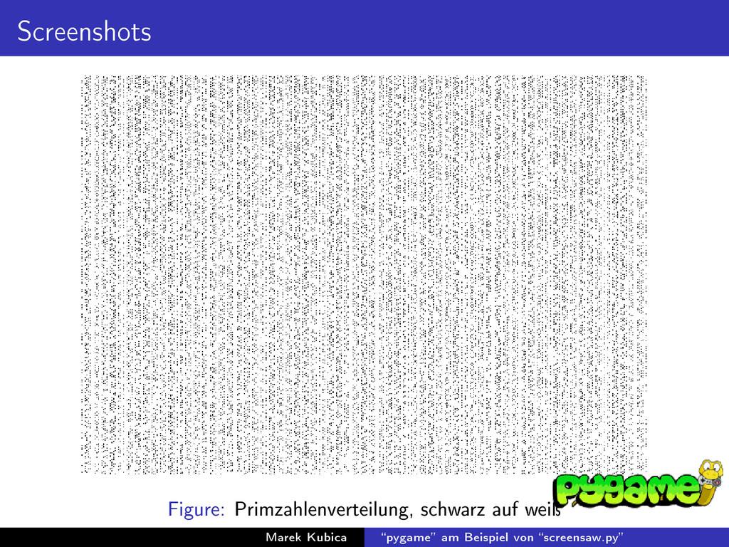Screenshots Figure: Primzahlenverteilung, schwa...