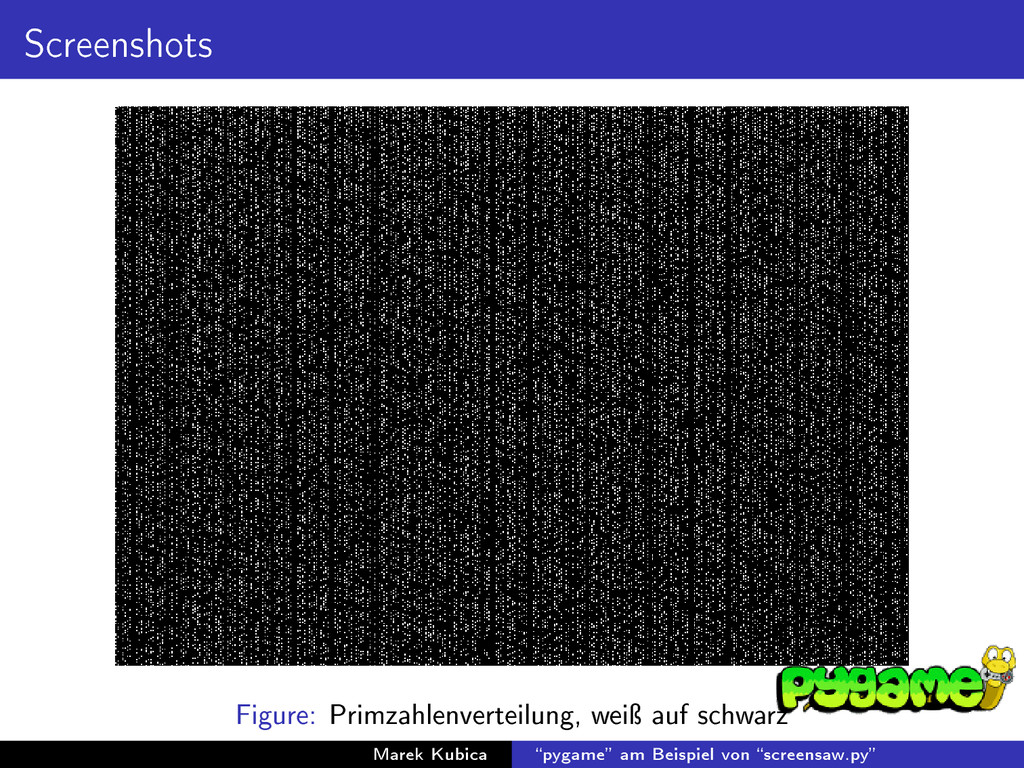 Screenshots Figure: Primzahlenverteilung, weiÿ ...