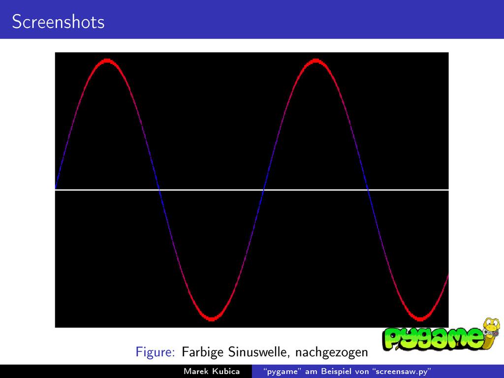 Screenshots Figure: Farbige Sinuswelle, nachgez...