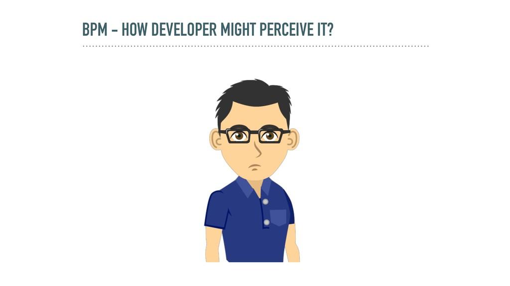 BPM - HOW DEVELOPER MIGHT PERCEIVE IT?