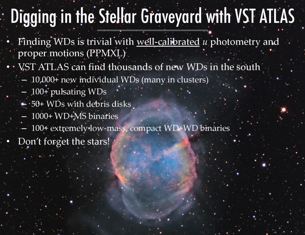 Digging in the Stellar Graveyard with VST ATLAS...