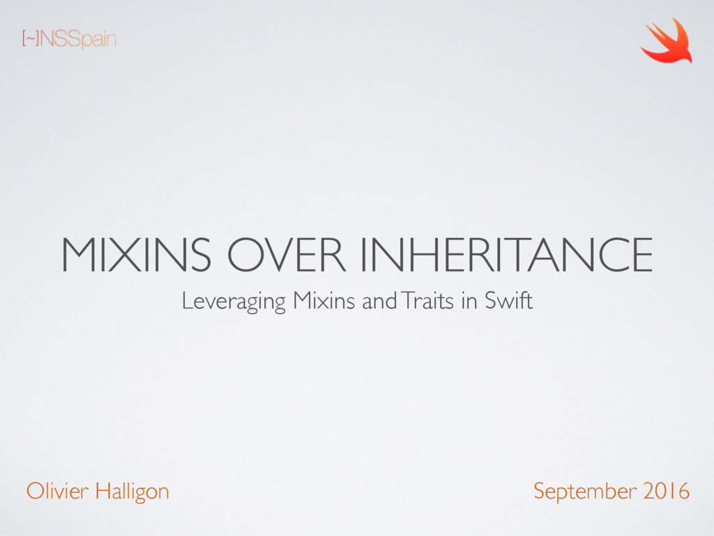 MIXINS OVER INHERITANCE Leveraging Mixins and T...