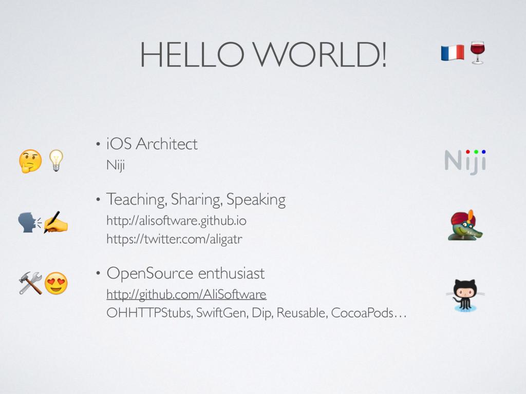 • iOS Architect Niji • Teaching, Sharing, Spea...
