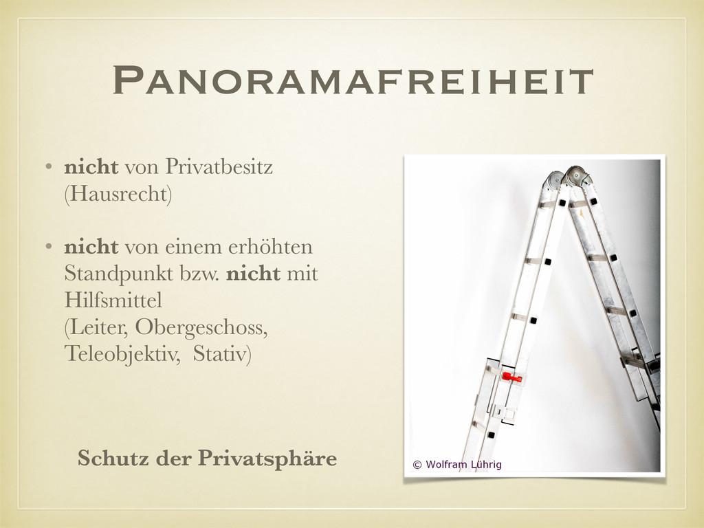 Panoramafreiheit • nicht von Privatbesitz (Haus...