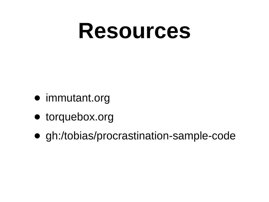 Resources • immutant.org • torquebox.org • gh:/...