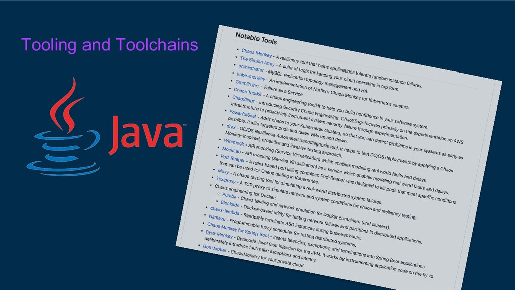 Tooling and Toolchains