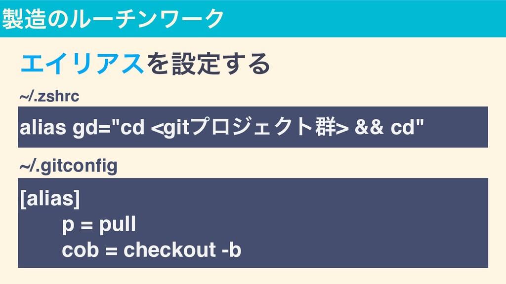 [alias ]  ɹɹp = pul l  ɹɹcob = checkout -b alia...