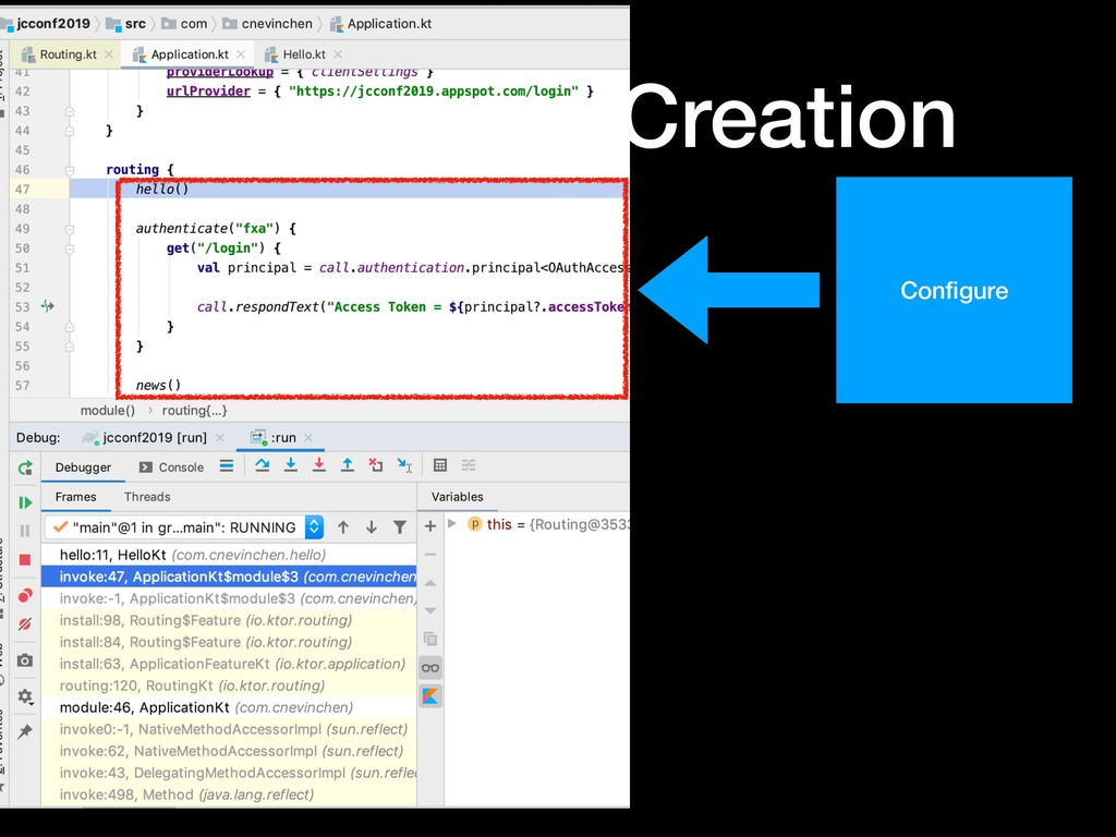 Ktor Route Creation • Extension Configure