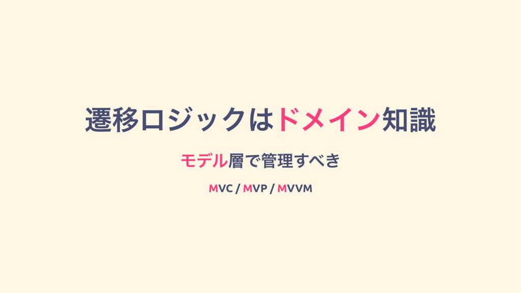 ભҠϩδοΫυϝΠϯࣝ ϞσϧͰཧ͖͢ MVC / MVP / MVVM