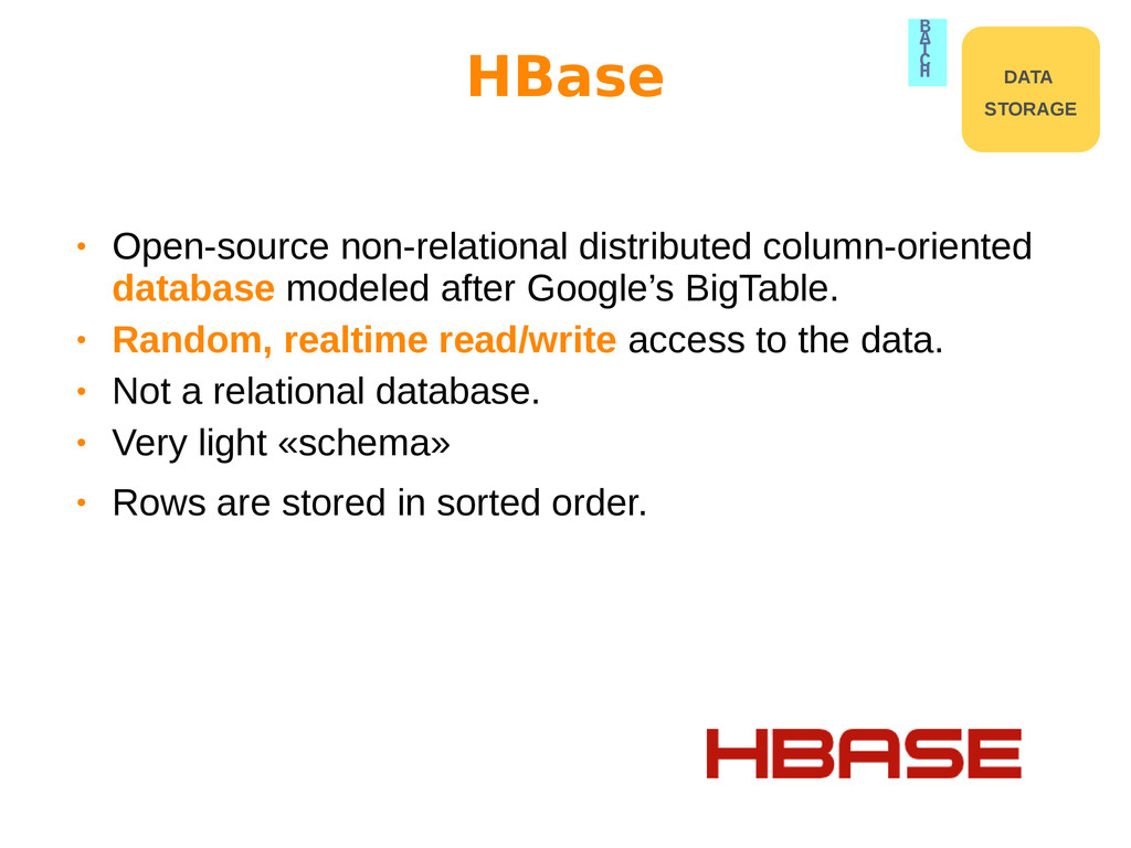 • Open-source non-relational distributed column...