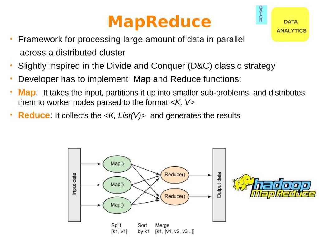 • Framework for processing large amount of data...