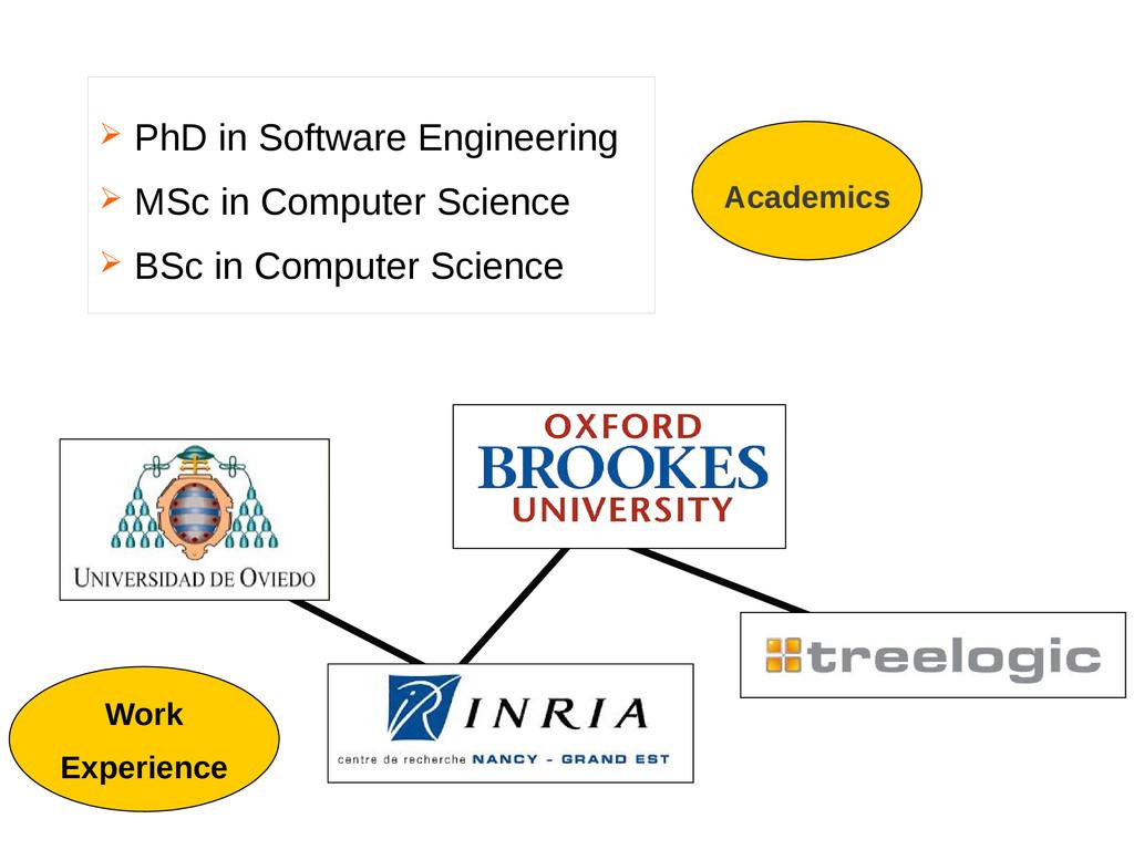  PhD in Software Engineering  MSc in Computer...