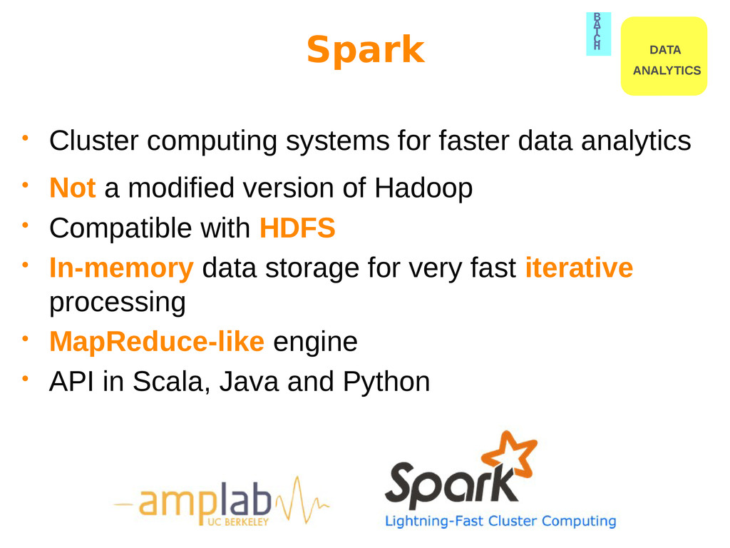 Spark • Cluster computing systems for faster da...