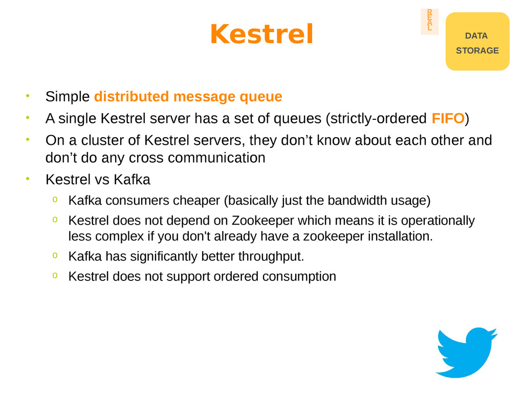 • Simple distributed message queue • A single K...