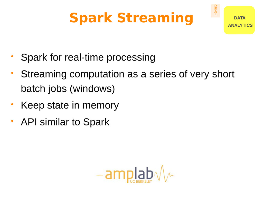 Spark Streaming • Spark for real-time processin...