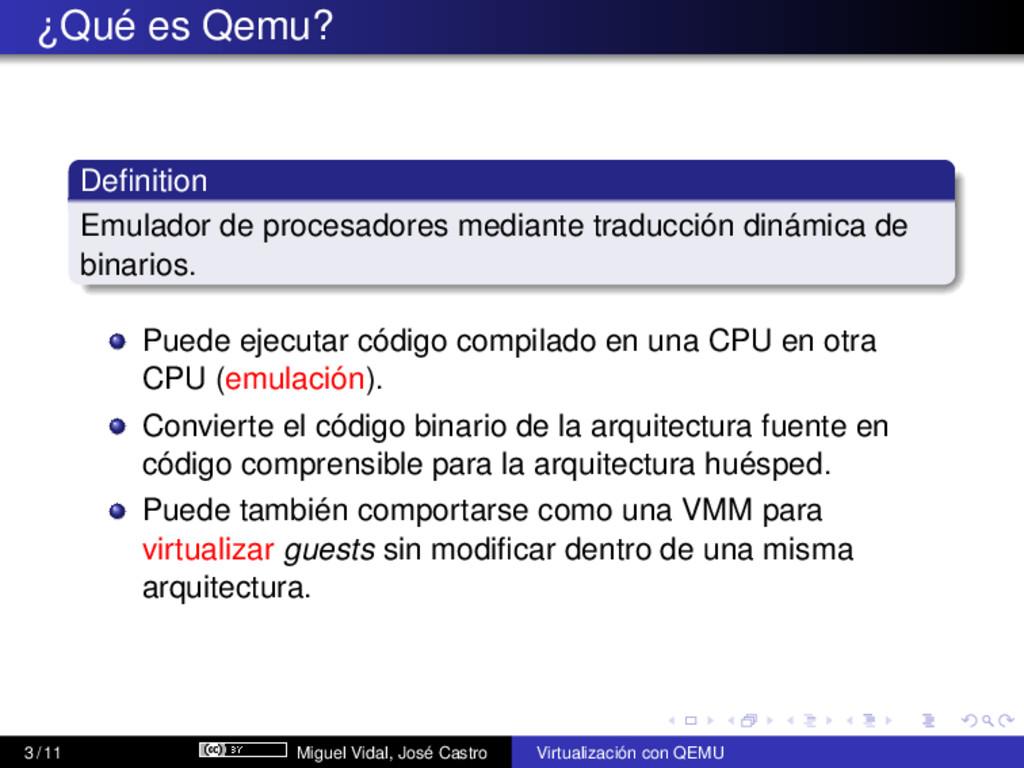 ¿Qué es Qemu? Definition Emulador de procesadore...