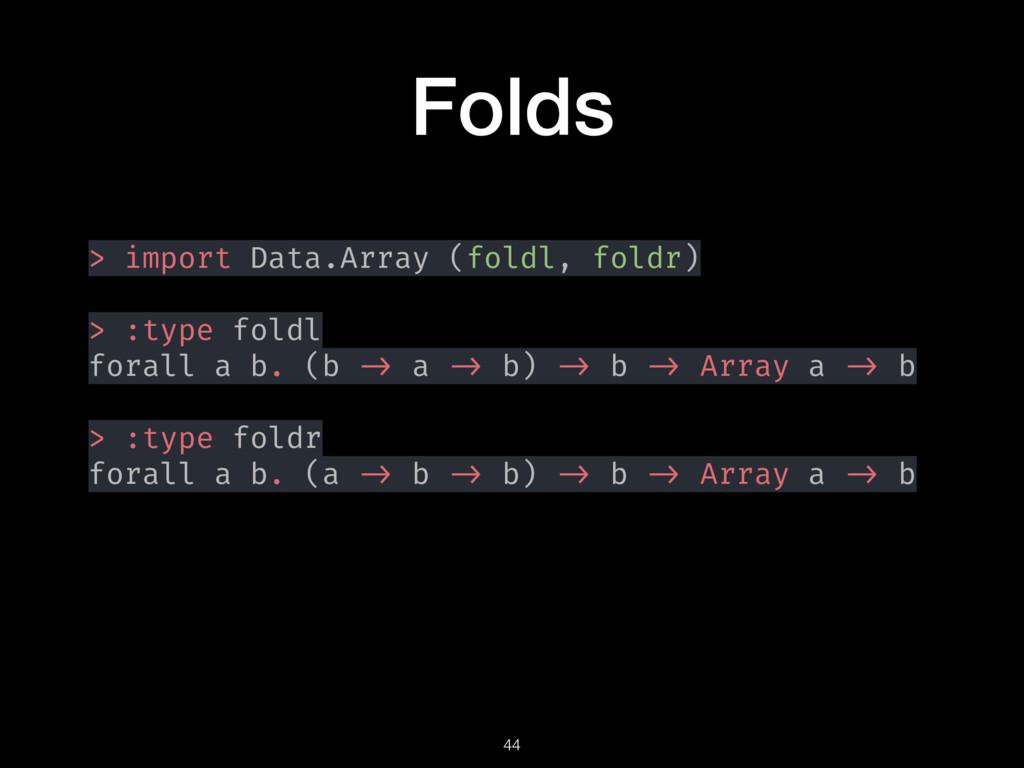 Folds > import Data.Array (foldl, foldr) > :typ...