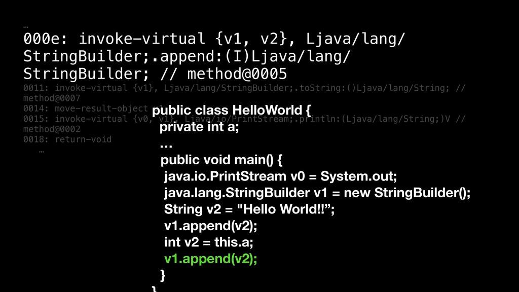 … 000e: invoke-virtual {v1, v2}, Ljava/lang/ St...