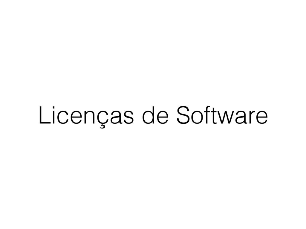 Licenças de Software