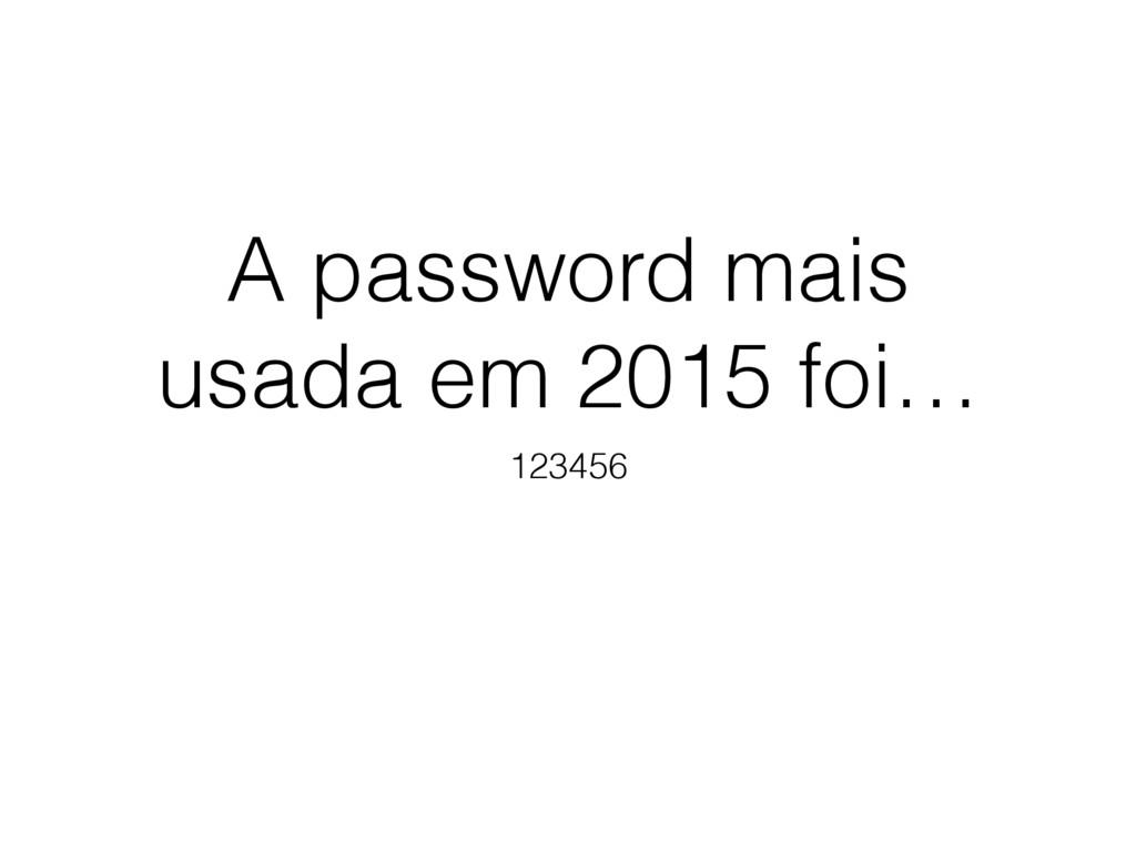 A password mais usada em 2015 foi… 123456