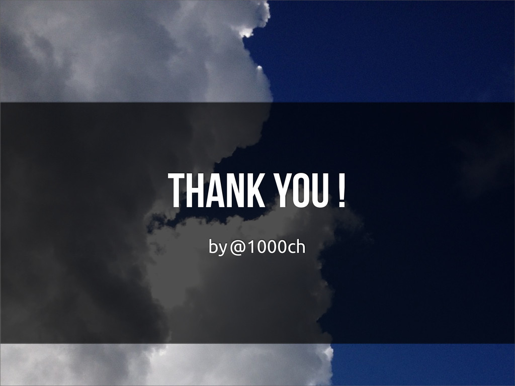 Thank you ! by @1000ch