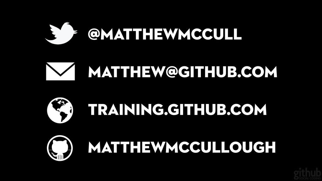 ! matthew@github.com training.github.com @matth...